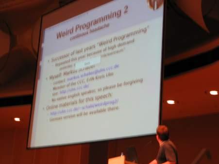 21C3 Weird Programming 2