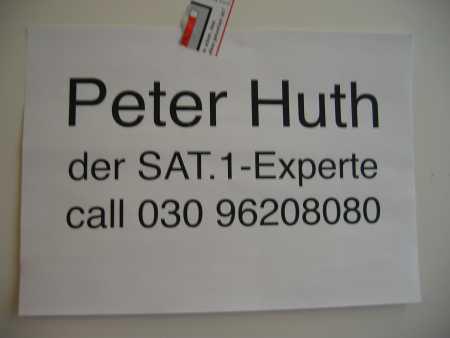 Peter Huth, der SAT1 Experte