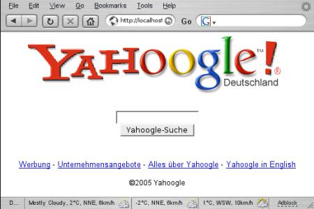 Mach doch mal was mit google