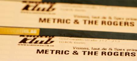 Metric & The Rogers Sisters