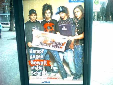 Tokio Hotel gegen Gewalt an der Schule