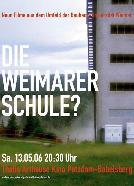 Neun Filme aus dem Umfeld der Bauhaus-Universität Weimar