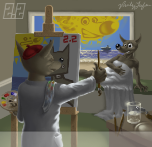 Wilber painting Wilma by Philip Lafleur.png
